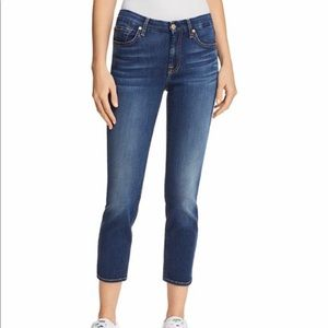 7 For All Mankind Kimmie Crop Jeans Size 25